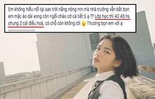 Nữ sinh bị ném đá tơi tả vì than phiền trời nóng mà lớp học 45 người chỉ có 2 chiếc điều hoà