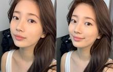 """Suzy đúng là thánh """"hack não"""": tưởng để mặt mộc nhưng thực ra đang makeup rất khéo"""