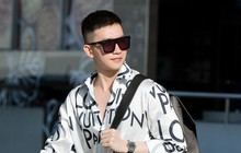 Võ Cảnh xuất hiện nổi bật và cực điển trai tại sân bay sang Pháp dự Liên hoan phim Cannes