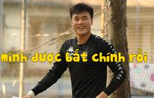 Thủ môn Bùi Tiến Dũng lần đầu tiên bắt chính cho Hà Nội FC, đối đầu với em trai và bạn thân Hà Đức Chinh