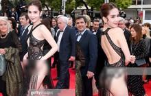 Ngọc Trinh lần đầu đi thảm đỏ Cannes đã gây sốc với trang phục hở hang nhức mắt, khoe thân quá đà