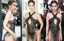 """Đọ nhan sắc của Ngọc Trinh trên thảm đỏ Cannes khi chưa và đã qua """"phù thuỷ photoshop"""""""