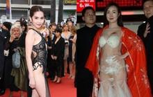 Gọi tên phong cách mà Ngọc Trinh chọn đi Cannes: Nếu không phải giống Can Lộ Lộ, Cannes Lộ Lộ thì cũng là Trinh Lộ Lộ