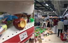 Sốc với cảnh tượng còn sót lại sau khi người dân săn đồ giảm giá nhân dịp chuỗi siêu thị Auchan rời Việt Nam
