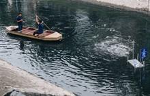 Sau một tuần dùng công nghệ nano làm sạch sông Tô Lịch, người dân vẫn tiếp tục vứt rác xuống