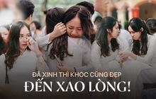 Những khoảnh khắc đẹp nhất mùa bế giảng tại Hà Nội: Dàn nữ sinh khóc lóc bù lu bù loa vẫn giữ được nét xinh xắn đến xao lòng