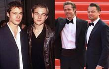 """Choáng với ảnh Brad Pitt và Leonardo hiện tại và 30 năm trước: Vẫn xứng danh cặp tài tử """"sát gái"""" nhất Hollywood!"""