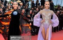 Mỹ nhân Vbiz diện Áo dài chặt chém trên thảm đỏ Cannes ngày 8 nhưng bị nhầm thành siêu mẫu Nga Natasha Poly