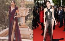 BB Trần diện váy mỏng hở chẳng kém Ngọc Trinh trên thảm đỏ Cannes, khoe body nuột như con gái