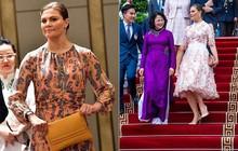 Có một Công chúa Hoàng gia rất thích diện đồ họa tiết, thậm chí trong chuyến thăm Việt Nam không ngày nào không mặc