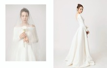 Đàm Thu Trang diện váy cưới lộng lẫy, khoe vẻ đẹp mong manh trước ngày về chung nhà với Cường Đô La