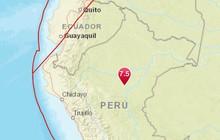 Peru rung chuyển bởi trận động đất mạnh 7,5 độ