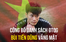 Bùi Tiến Dũng không được gọi lên tuyển Việt Nam dự King's Cup 2019 tại Thái Lan