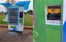 Máy bán hàng tự động ở TP Tuy Hoà bị kẻ gian phá hoại sau chưa đầy 1 tháng lắp đặt