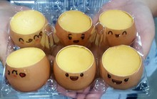 Muôn kiểu ăn bánh flan từ quen đến lạ của người Sài Gòn: ăn cả trong quả bí và vỏ trứng