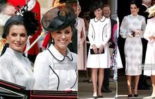 Cuộc đọ style Hoàng gia gay cấn: Trong khi Công nương Kate vẫn giữ hình ảnh cũ thì Hoàng hậu Letizia lại gây bất ngờ