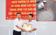 Đà Nẵng khen thưởng anh thợ đá đục mảng bê tông bám trên đường vì sợ người khác bị tai nạn
