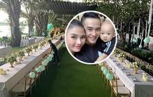 Mừng quý tử đầu lòng tròn 1 tuổi, vợ chồng Lương Thế Thành mạnh tay tổ chức tiệc sinh nhật cực hoành tráng