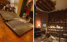 Tiệm cafe nổi tiếng phố cổ bỗng dưng sập trần, dân tình hoang mang lo lắng, có khách vỡ tan chiếc laptop