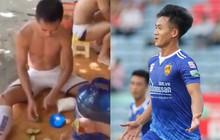 """Cầu thủ V.League học Bà Tân vê lốc, pha bình nước chanh """"siêu to, siêu chua, khổng lồ"""" cho cả đội giải nhiệt"""