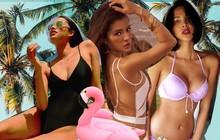 """Sao nữ Vbiz và cuộc chiến khoe body mùa hè: Từ Hoa hậu đến ca sĩ ai cũng cực bốc lửa, có người còn """"thả rông"""" vòng 1 táo bạo!"""