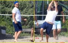 """Ai chơi bóng chuyền tuyệt đối phải dùng tay, chứ đừng đỡ bóng bằng mặt như """"ông chú bụng bia"""" Leonardo Dicaprio nhé"""