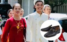 Trung vệ Bùi Tiến Dũng mặc áo dài truyền thống, chọn giày 20 triệu để đi hỏi vợ