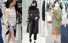 Trước khi ly hôn, Song Hye Kyo từng có phong cách sân bay xuề xòa đến đơn điệu