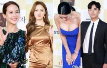 """Thảm đỏ khủng: """"Bom sex"""" Clara chiêu trò bức tử vòng 1 siêu to khổng lồ, Lee Sung Kyung sang chảnh bên """"thái tử"""""""