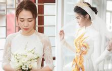 Mỹ nhân Vbiz 2 miền Nam - Bắc và phong cách chọn áo dài ăn hỏi mỗi miền mang một nét đẹp riêng