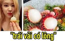 """Rosé (BLACKPINK) livestream ăn hoa quả ngon lắm nhưng lại gọi chôm chôm là """"trái vải có lông"""""""