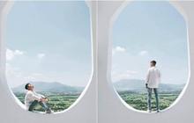"""Há hốc mồm với xuất xứ của background sống ảo hình cửa sổ máy bay """"siêu to khổng lồ"""" đang hot ở An Giang"""