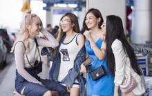 Hội bạn thân toàn mỹ nhân Vbiz tạo nên màn tái ngộ mãn nhãn tại sân bay sang Singapore, nhưng sắc vóc ai nhỉnh hơn?