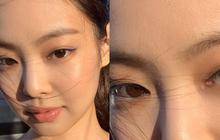 Zoom kỹ mặt khoe da, Jennie (BLACKPINK) được khen vì đường nét hoàn mỹ nhưng ai ngờ tự làm lộ lớp make up