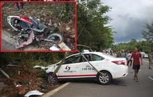 Taxi tông xe máy, 2 cô cháu tử vong thương tâm