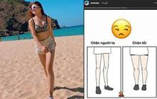 Bị dân mạng body shaming, Nhật Lê - bạn gái Quang Hải cũng thở than về đôi chân ngắn của mình