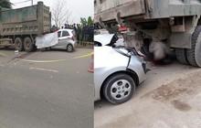 Đang sửa xe cho khách, thợ bị ô tô tông chết ở Hà Nội