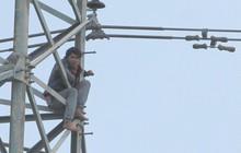 """Đã giải cứu được đối tượng nghi """"ngáo đá"""" trèo lên cột điện cao thế cố thủ gần 2 ngày"""