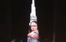 Cái ôm nổi tiếng của nữ Thủ tướng New Zealand xuất hiện trên tòa nhà cao nhất thế giới