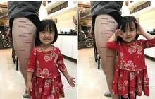 """Ông bố xăm chi chít trên chân trái, nhìn kỹ mới thấy đây chính là cách anh thể hiện tình yêu thương dành cho """"con gái rượu"""""""
