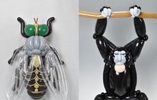 Với 10 năm kinh nghiệm, nghệ sĩ Nhật có thể tạo hình bóng bay nghệ thuật đến mức nào?