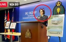 Cảnh sát Canada vô tình bật bộ lọc mèo hồng dễ thương khi phát trực tiếp họp báo về án mạng kép