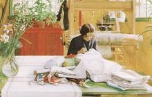 Tình yêu gia đình trong tranh họa sĩ được yêu thích nhất của Thụy Điển