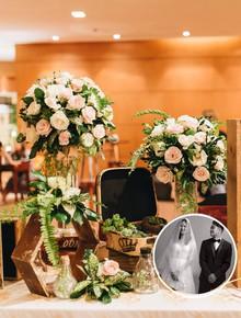 Không gian đám cưới sang trọng, tinh tế như một khu vườn cổ tích trong đám cưới của Tuyết Lan