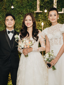 Mâu Thủy, vợ chồng Lê Thuý và dàn nghệ sĩ Vbiz đến chung vui cùng Tuyết Lan trong ngày trọng đại
