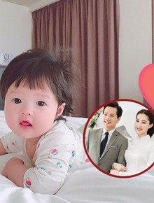 Hot: Lần đầu lộ ảnh cận mặt con gái cực đáng yêu của Hoa hậu Đặng Thu Thảo
