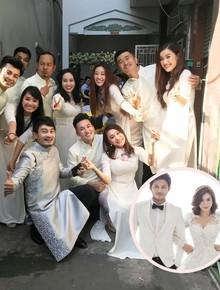 """Vợ chồng Ái Châu - Huỳnh Đông cùng dàn diễn viên nổi tiếng bưng quả trong đám hỏi sao nữ """"Gạo nếp gạo tẻ"""""""