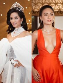 H'Hen Niê diện style khác lạ, Mâu Thủy hở bạo khoe ngực đầy trong sự kiện khởi động Miss Universe Việt Nam 2019