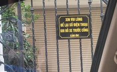 Chỉ một tấm biển nhỏ ngoài hàng rào, chủ nhà khiến cánh tài xế tấm tắc khen ngợi cả ngày