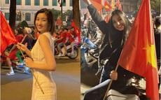 """Đẳng cấp nhan sắc của dàn Hoa hậu Vbiz """"đi bão"""": Không váy áo lụa là, cầm cờ đỏ sao vàng thôi đã xinh xuất sắc"""